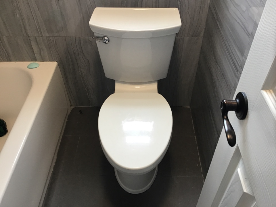 Pull and reset toilet