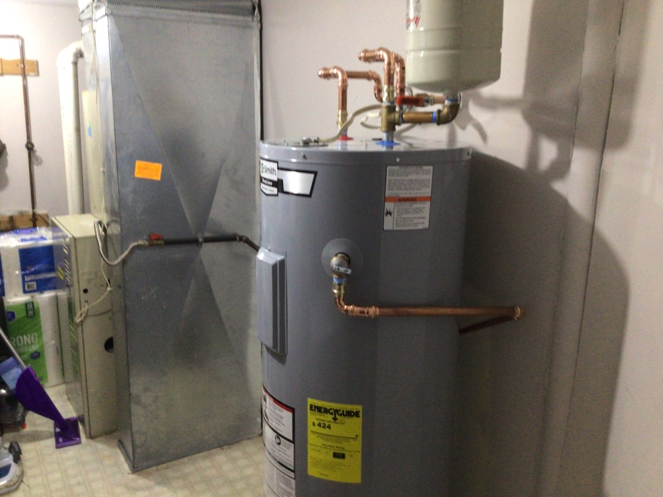 Supplied and installed one new A.O. Smith 50 gallon gas water heater