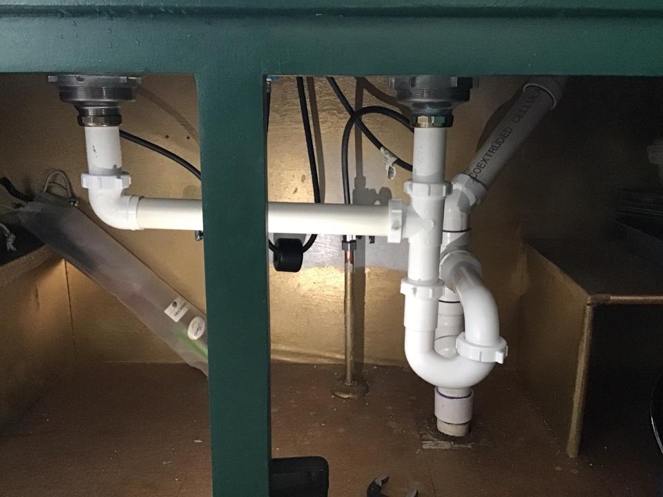 Complete rebuild under kitchen sink