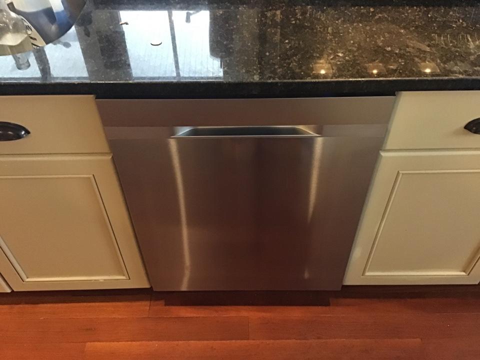 Dishwasher installed.