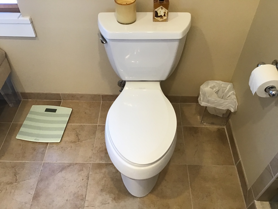 Administered closet auger on existing toilet.