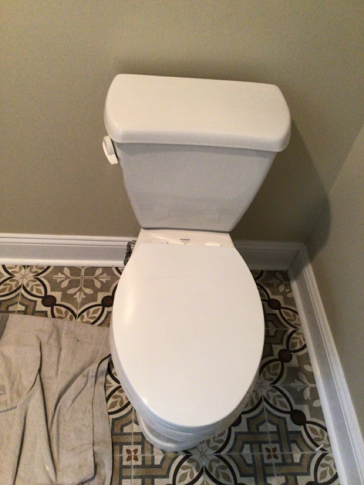 Install new Gerber  Avalanche Ergo Height toilet in Red Bank NJ