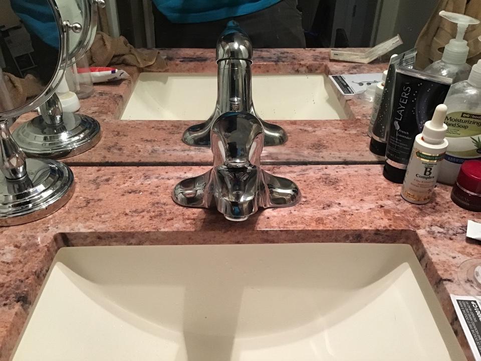 Moen Lav faucet installed in Manchester NJ