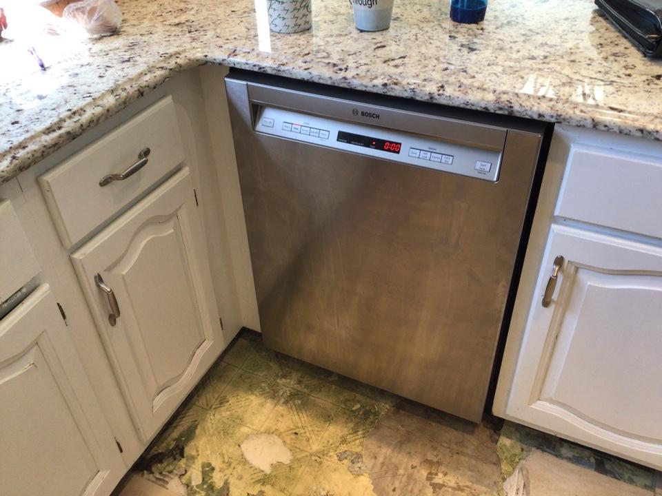 Replaced drain on dishwasher in Marlboro