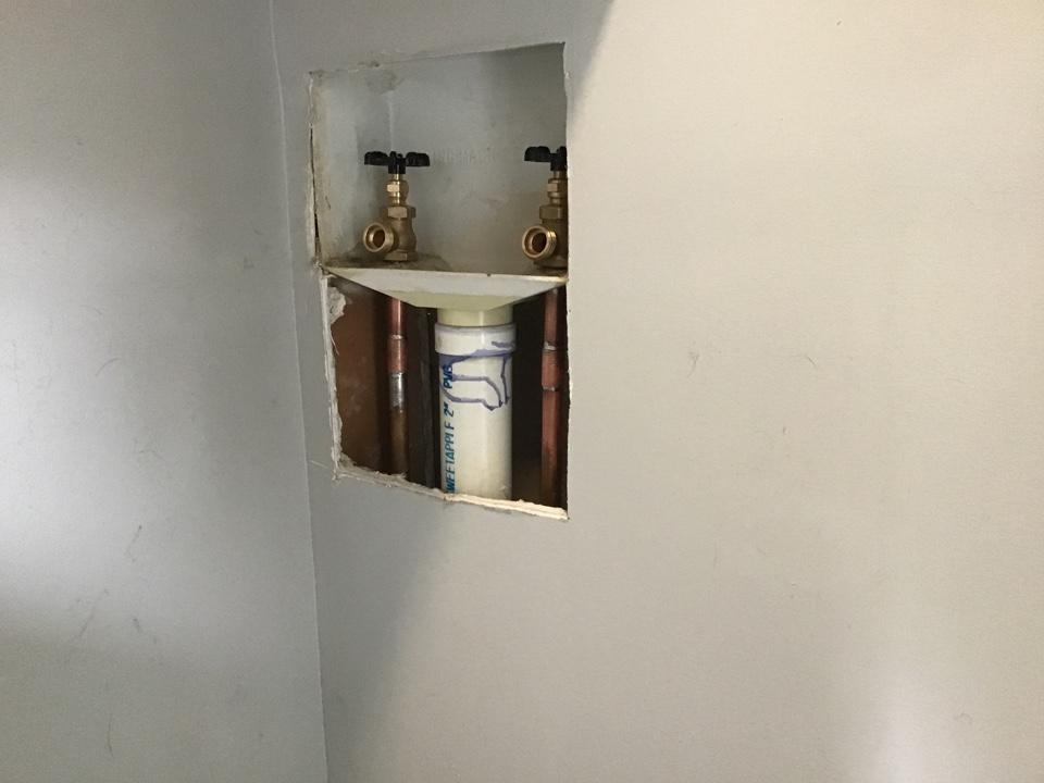 New washing machine valves