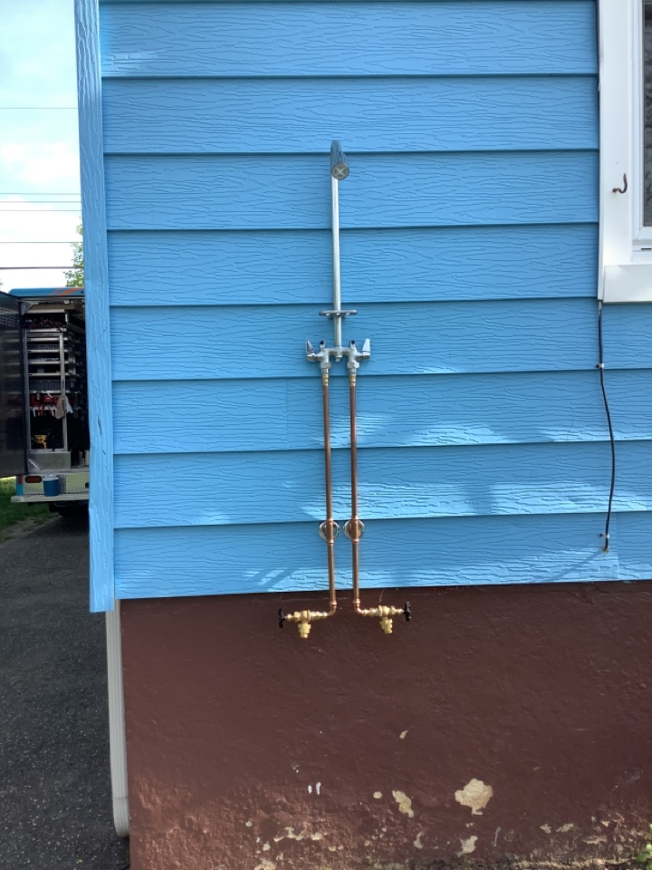 Installed outdoor rinse station in Neptune NJ
