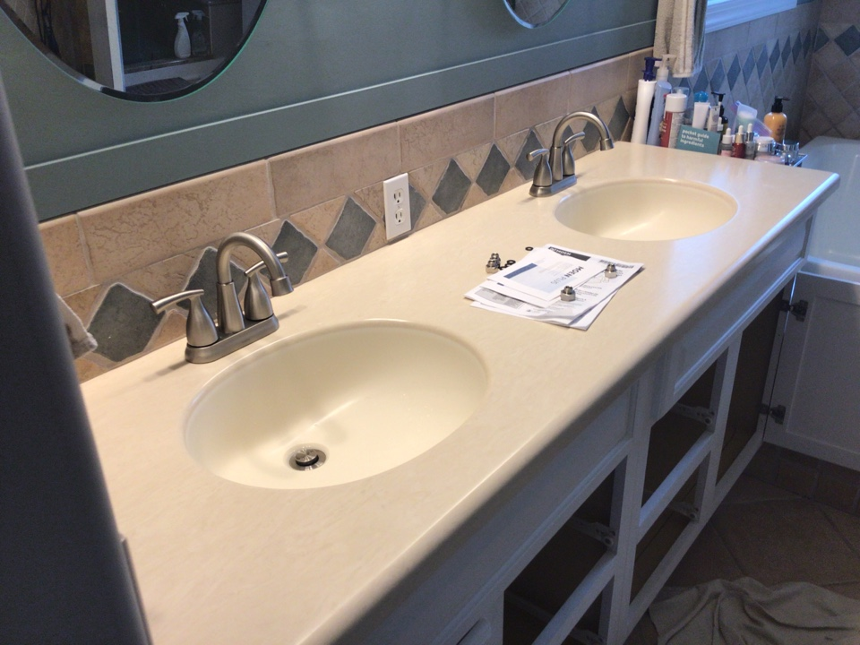 Installed customer supplied faucets in master bathroom in Bayville