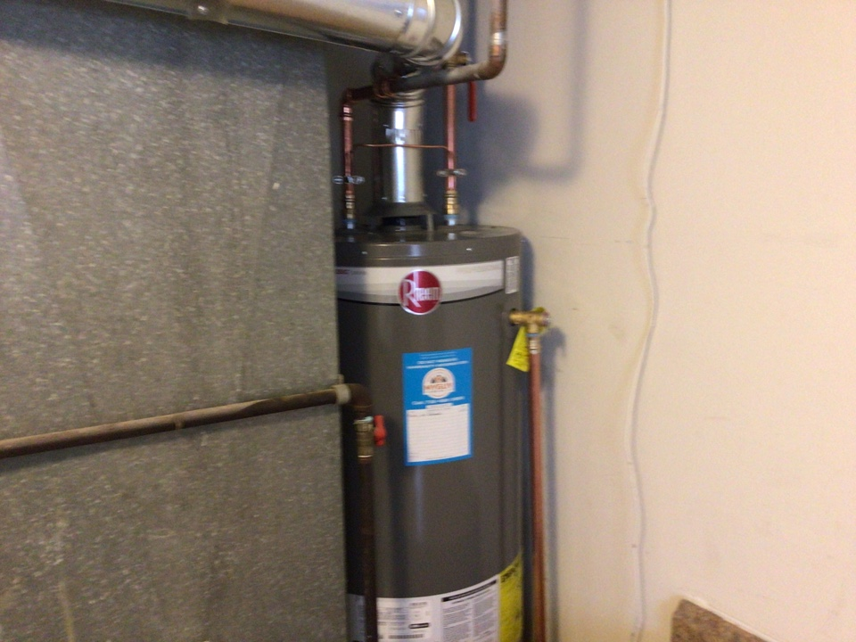 Supplied and installed one new 40 gallon gas water heater in Toms River