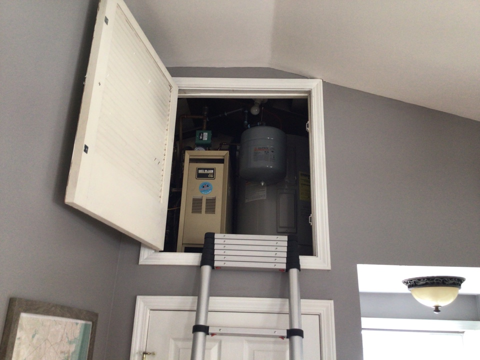 Serviced a Weil McLain CGA boiler in Forked River