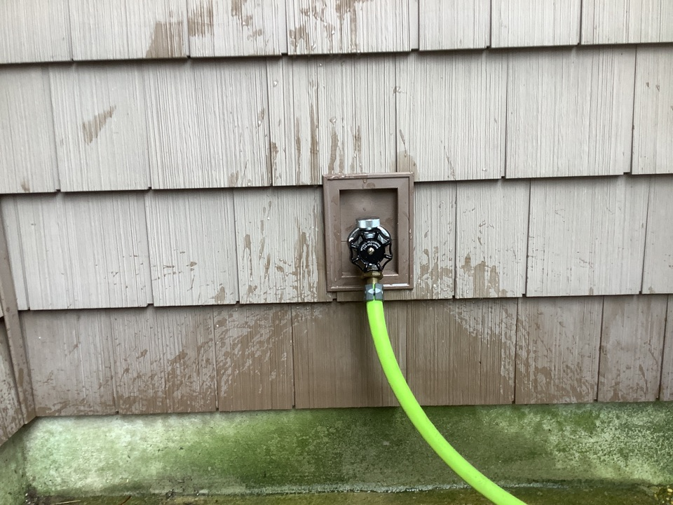Install new hose bibb
