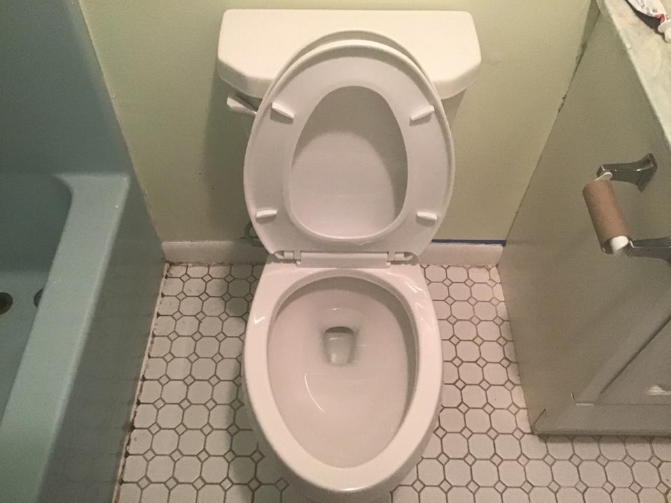 Berber viper toilet installed, and replaced shower stem units for 3handle shower valve in Barnegat NJ.