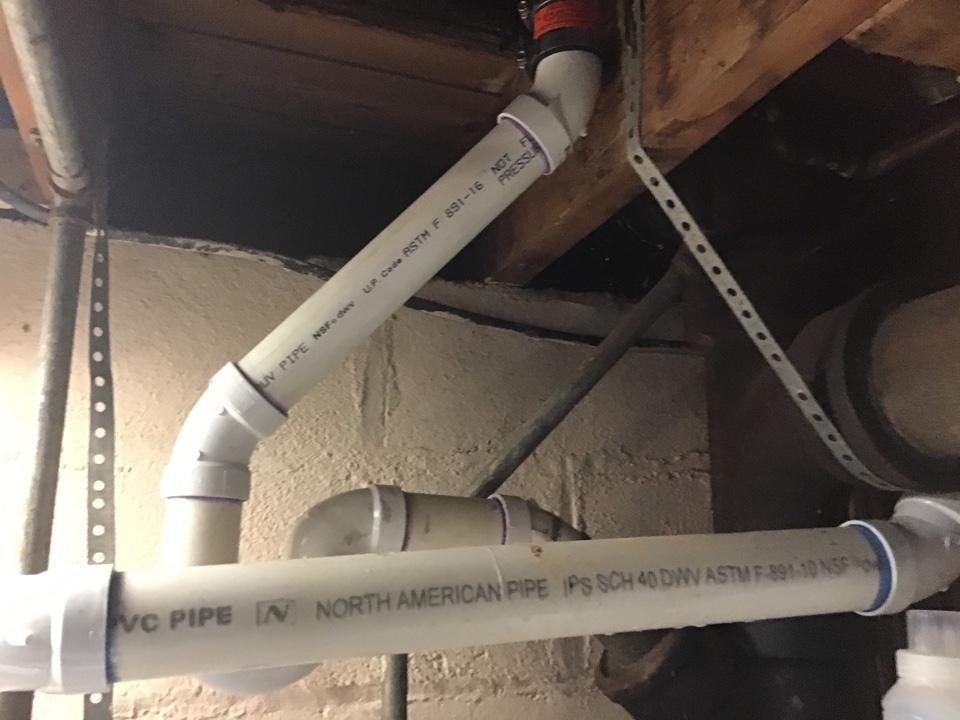 Point Pleasant, NJ - Minor repipe off drain line in basement