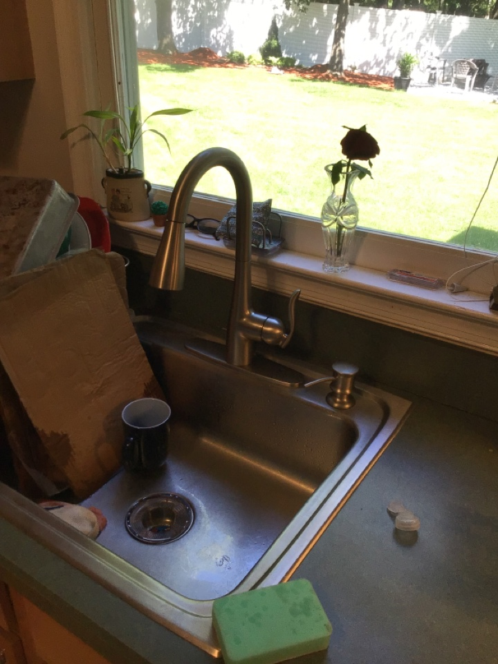 Supplied and installed a new kitchen faucet, soap dispenser and a new American Standard Bone toilet in To,s River
