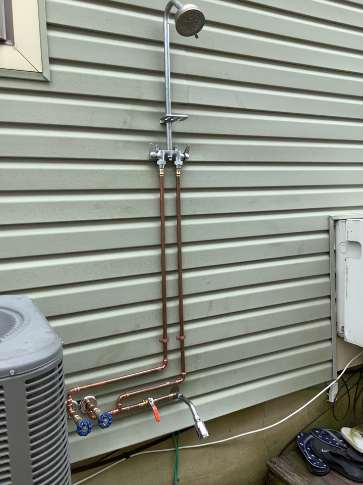 Lavallette, NJ - Install outdoor rinse station in Lavalette NJ