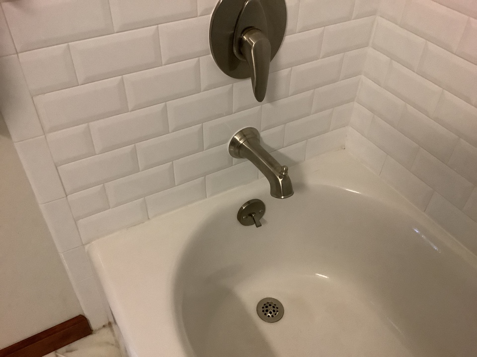Replace brushed nickel tub spout in Seaside Heights, NJ