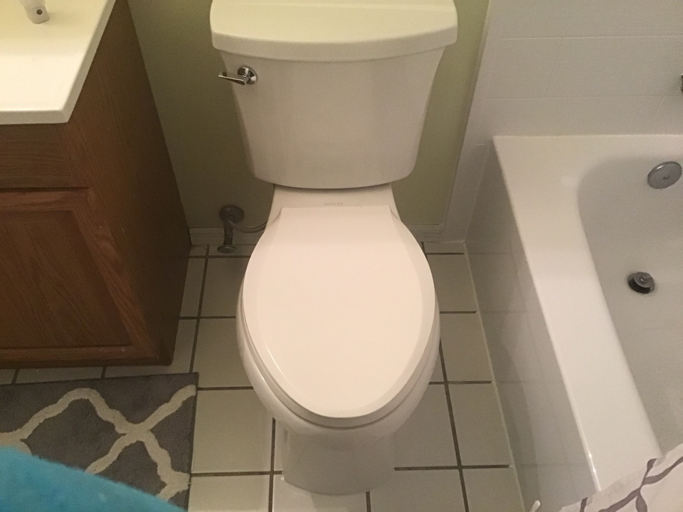Customer supplied toilet, and two items under kitchen sink installed in Howell NJ.