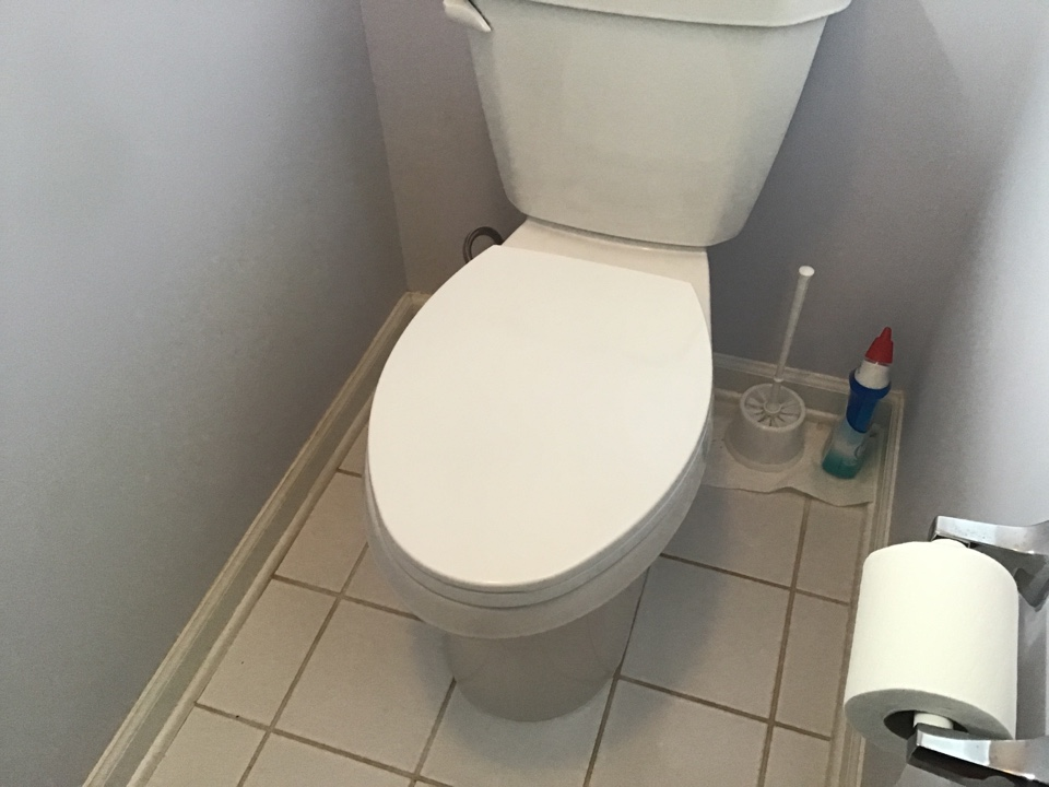 Two brand new Gerber Viper Toilets installed in Bayville NJ.