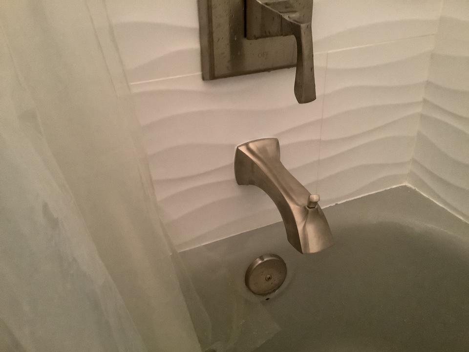 New tub spout