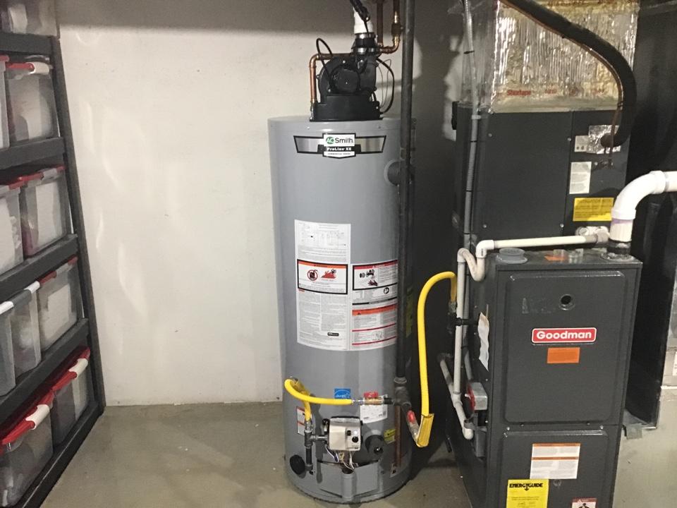 50gallon power vent water heater installed in Beachwood NJ