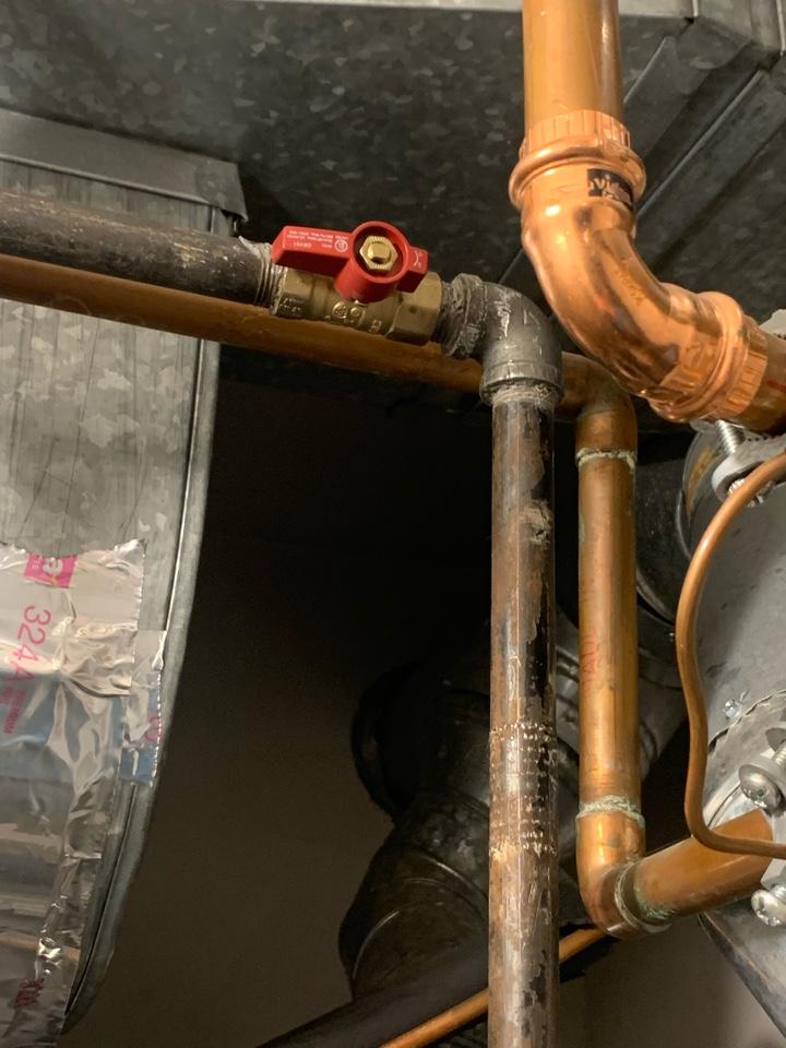 Repair gas piping
