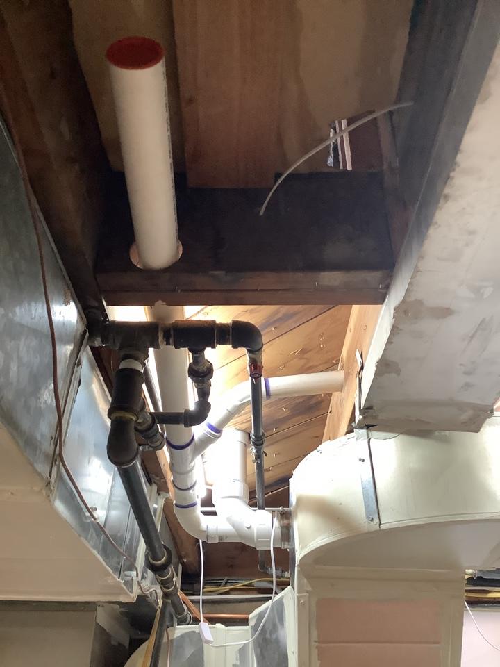 Install new drain line for shower