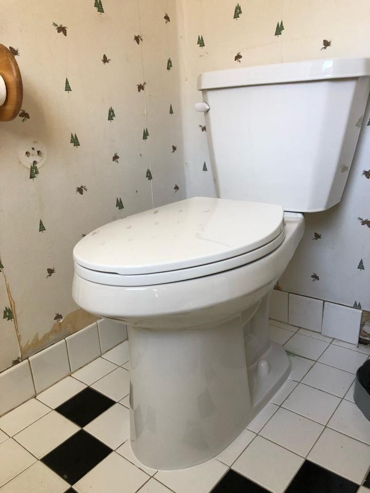 install new toilet