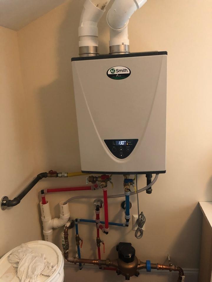 Lavallette, NJ - Repair outdoor shower, AO Smith tankless flush