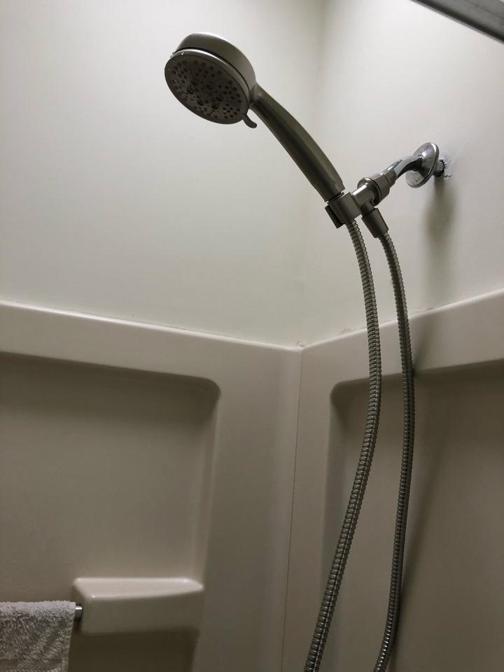 Install shower head