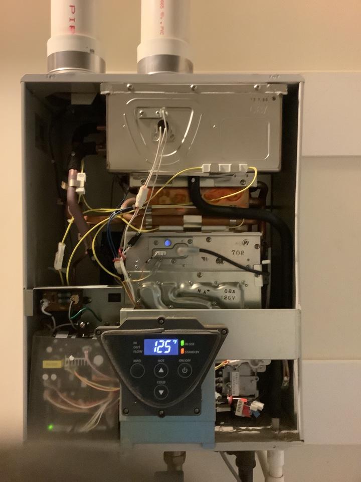 Annual service on Tankless water heater in Barnegat ,NJ
