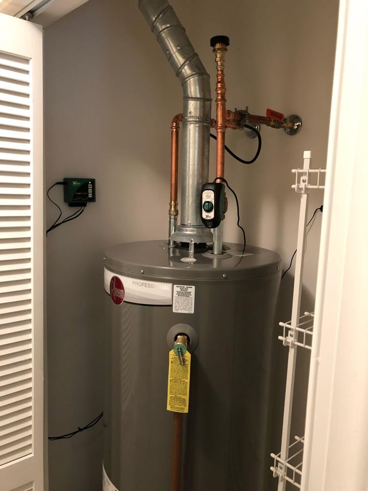 Install water heater