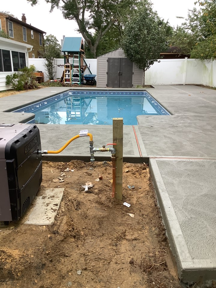 Install new gas line for pool heater in Toms River, NJ