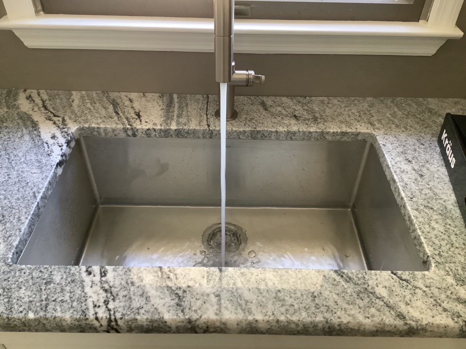 Install customer supplied kitchen faucet in Toms River, NJ