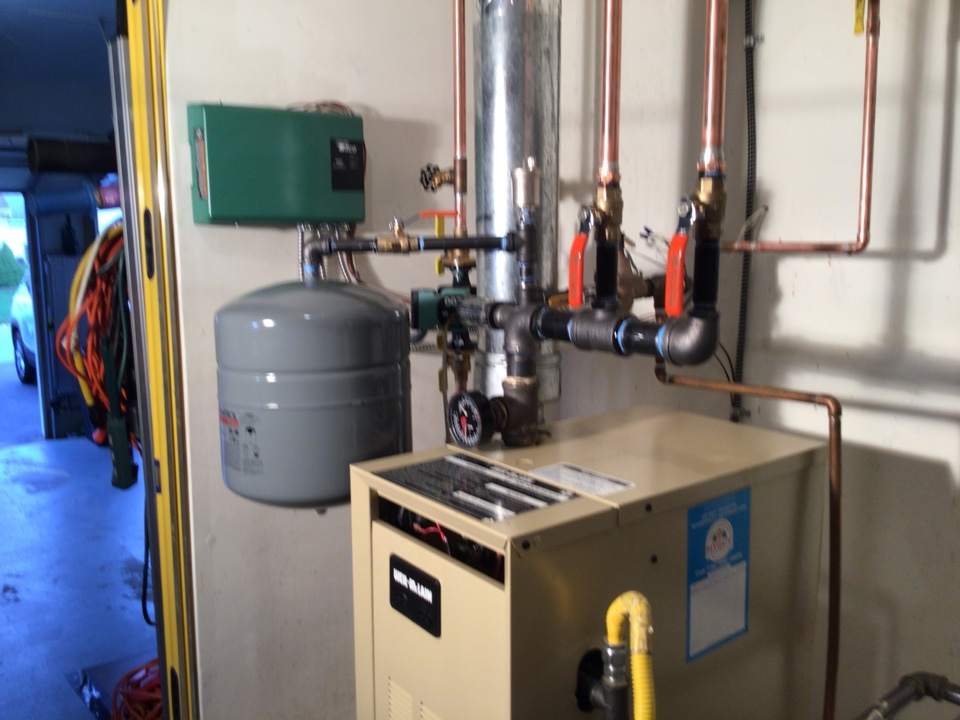 Manchester Township, NJ - Customer had us repipe boiler. Cut out zone valves and installed circulator pumps on both zones. Job is located in Whiting