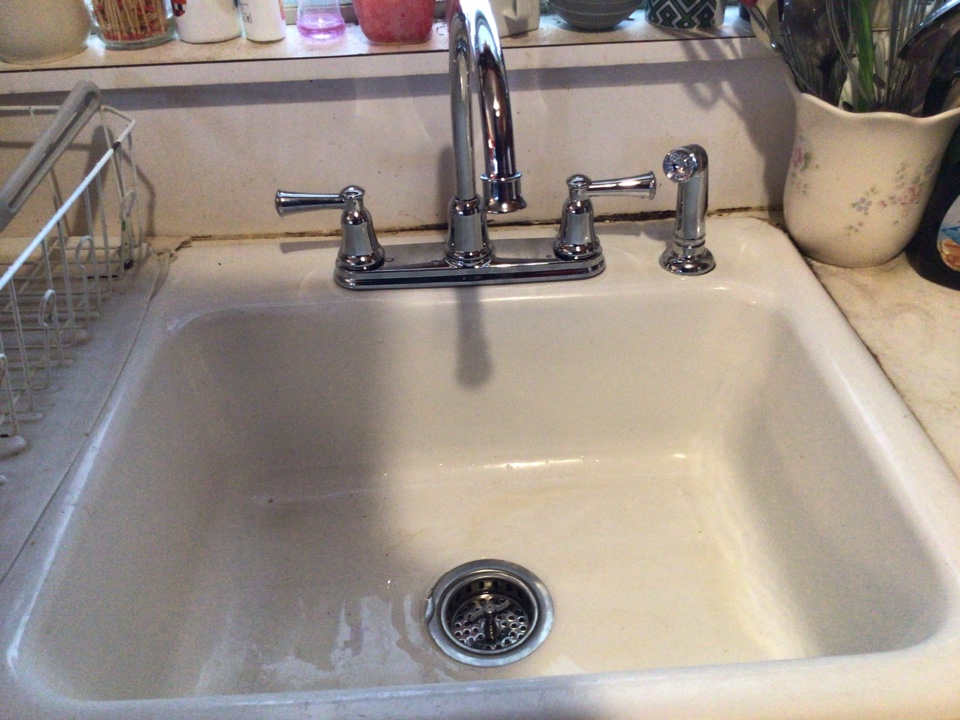 Supplied and installed one new  goose neck faucet and performed a complete rebuild under kitchen sink. Job is in Toms River