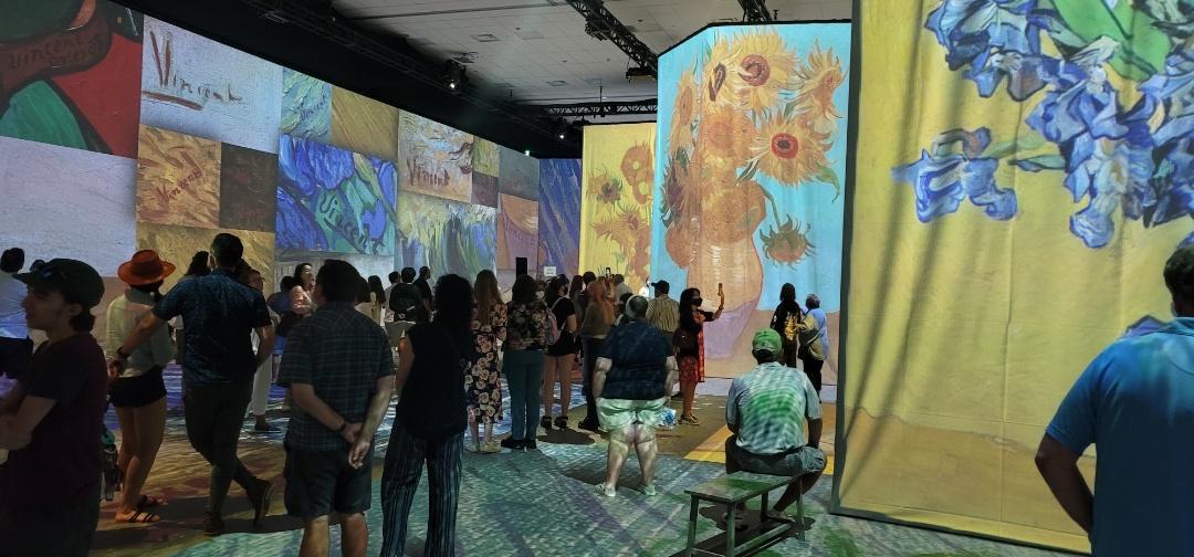 Anaheim, CA - Vincent Van Gogh exhibit on the workers' compensation surveillance