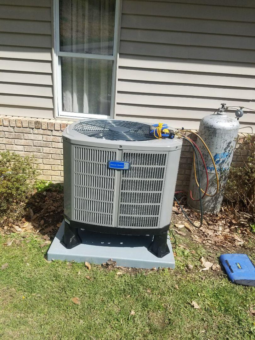 Belcher, KY - Install 3 ton American standard heat pump