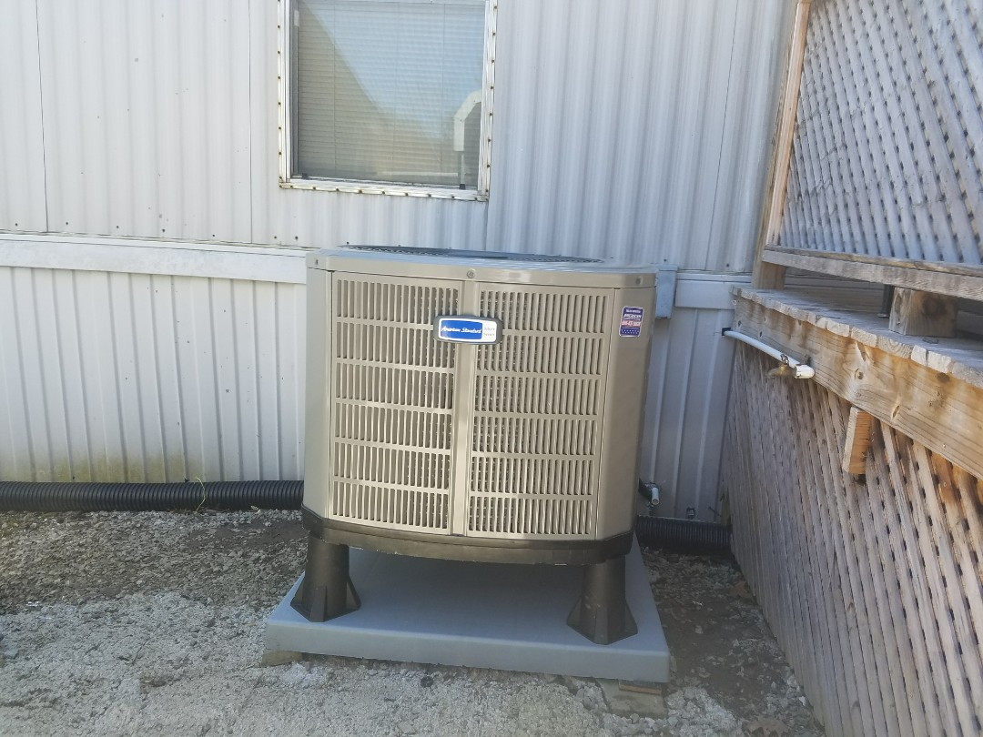 Jenkins, KY - Install American standard 3 ton heat pump with mobile home furnace