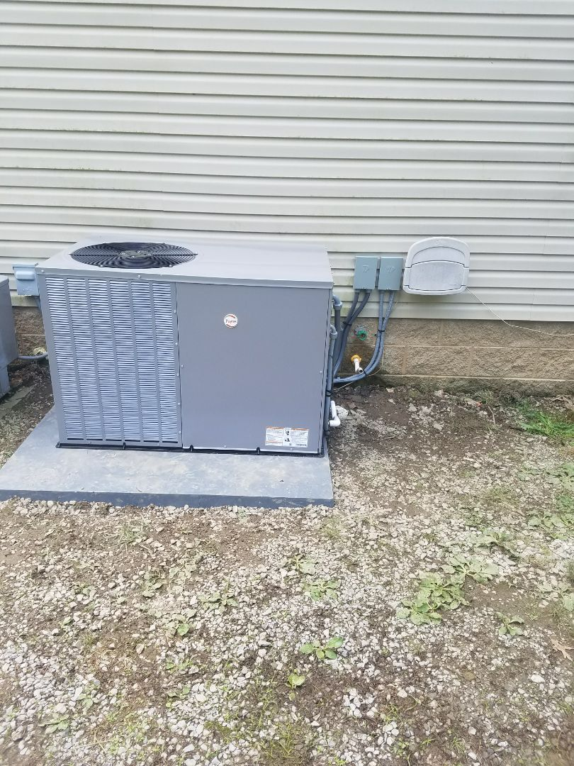 Pikeville, KY - Install 2.5 ton Payne package heat pump