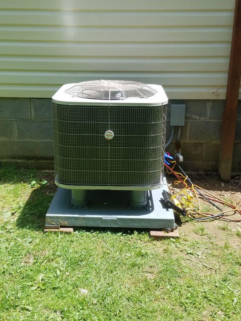 Raccoon, KY - Install 3 ton Payne heat pump