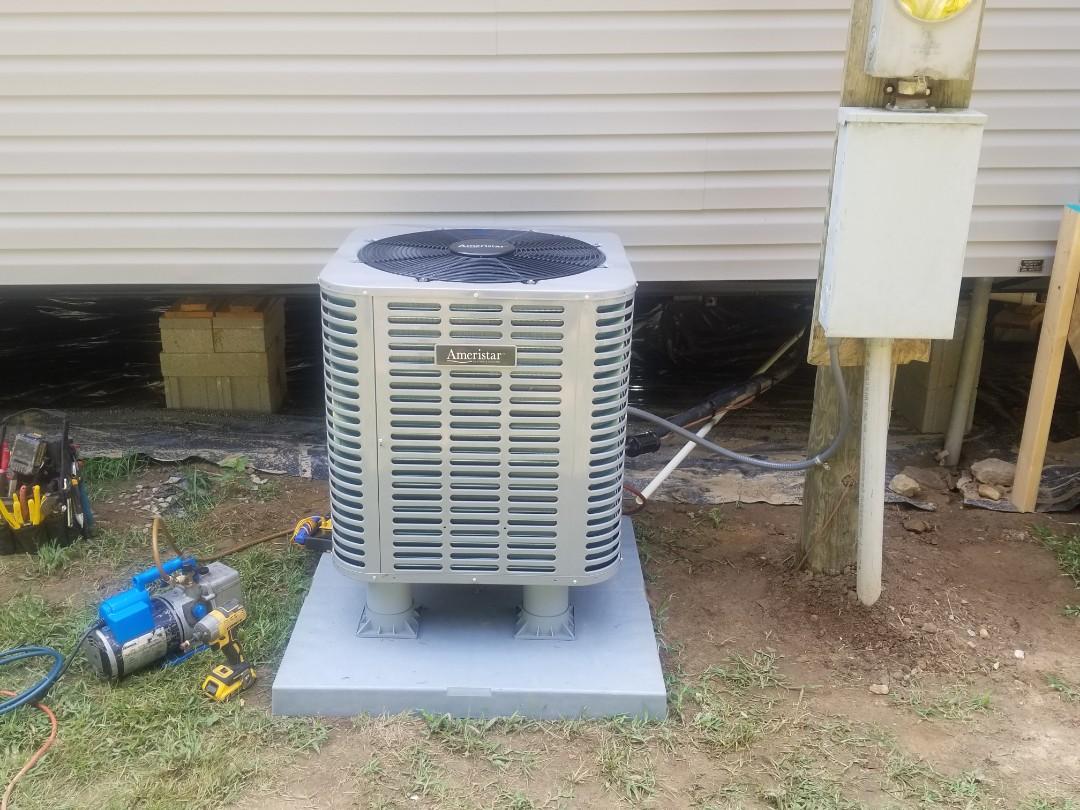 Pikeville, KY - Install ameristar 3.5 ton heat pump