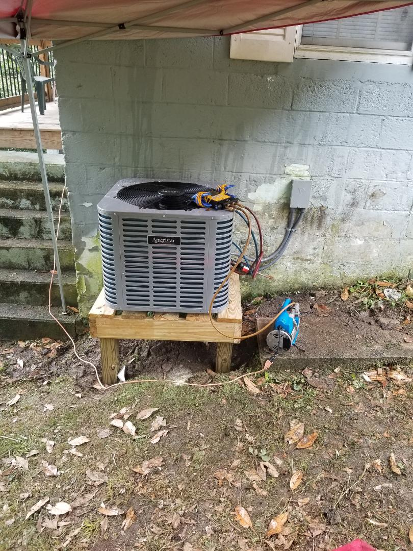 Virgie, KY - Install ameristar 3 ton ac with new coil on gas furnace