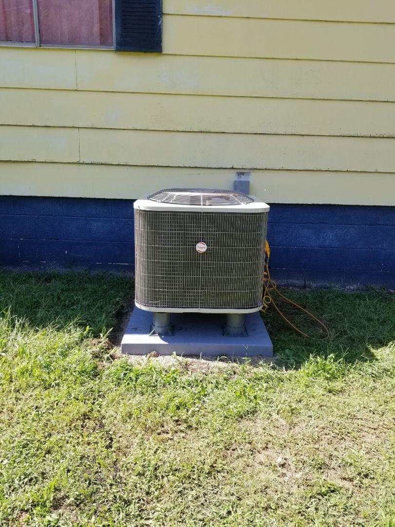 Virgie, KY - Install 3 ton Payne split system heat pump