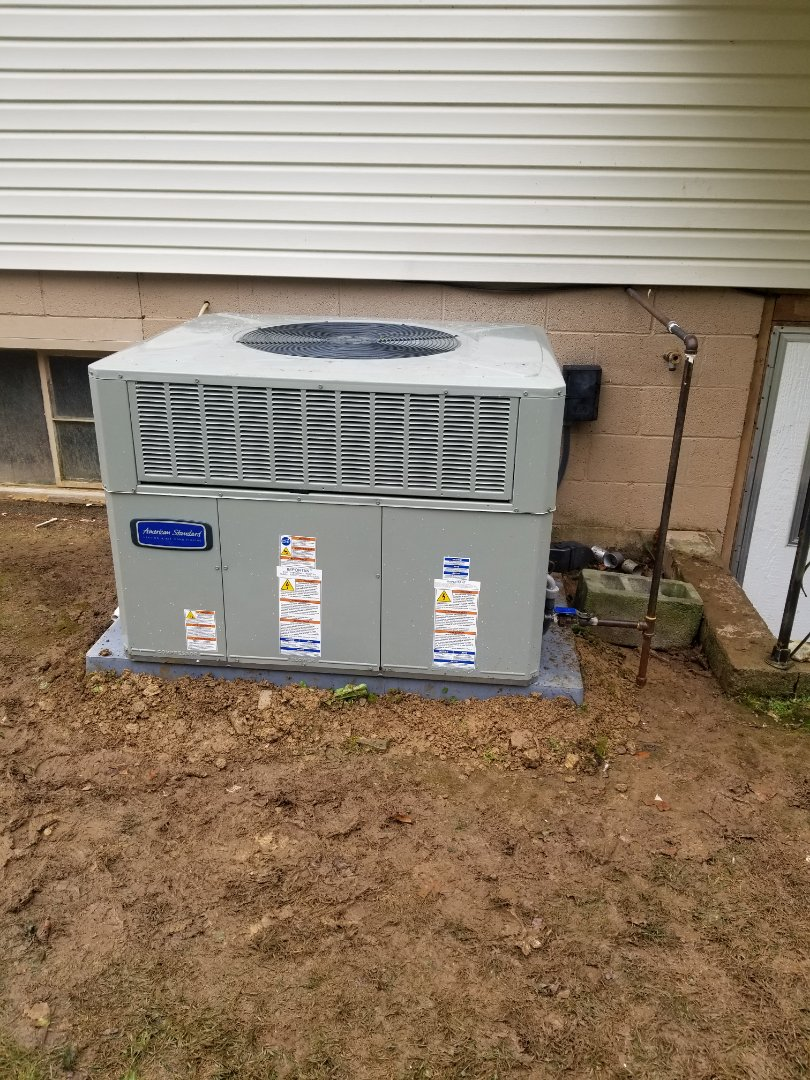 Pikeville, KY - Install 2 ton american standard gas package unit