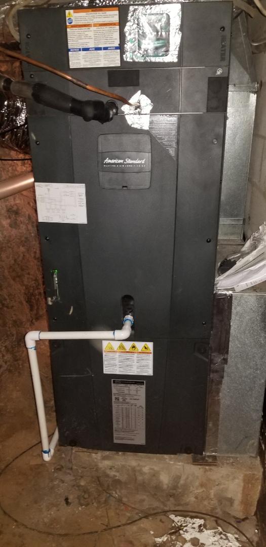 Shelbiana, KY - Install american standard 4 ton split system heat pump