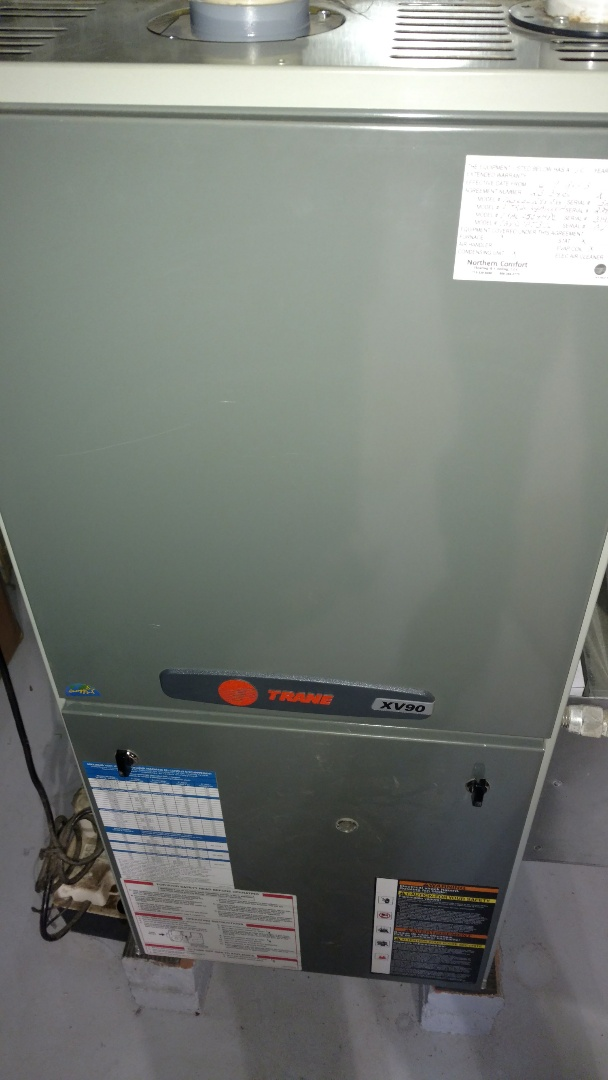 Phillips, WI - Perform preventive maintenance check on Trane XV90 LP gas furnace.