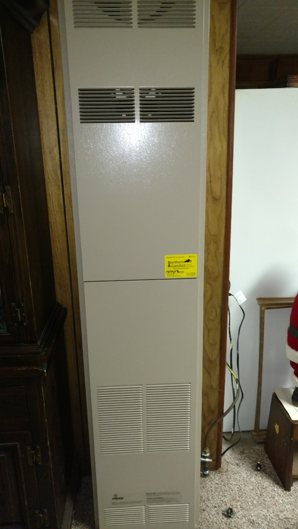 Fifield, WI - Replace thermostat on Empire wall furnace