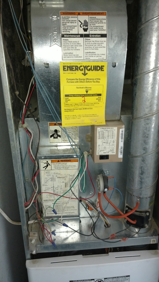 Prentice, WI - Replace ignitior on Coleman furnace.