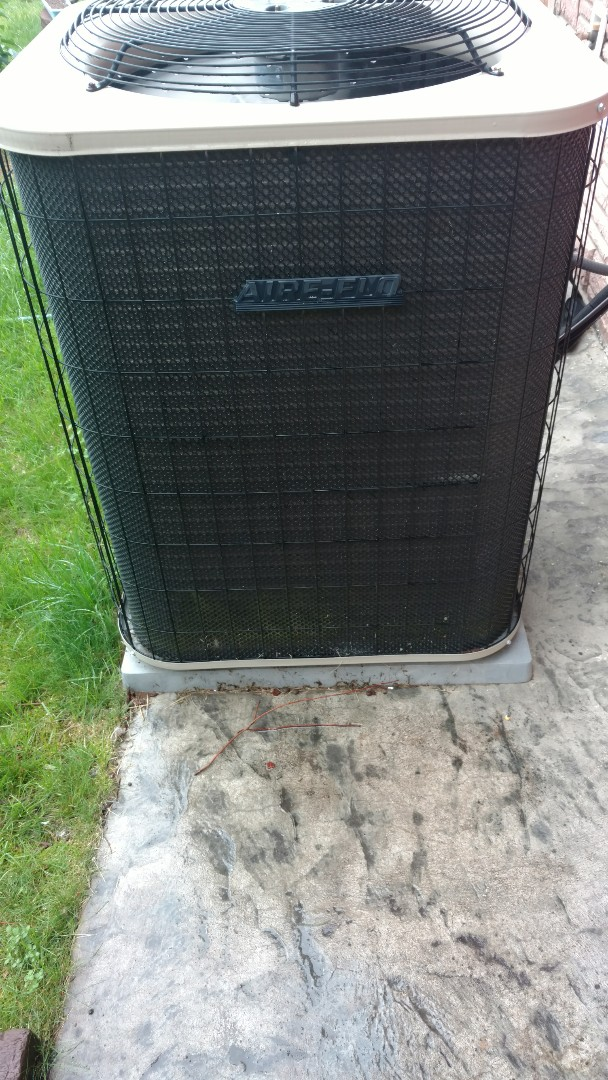 Fifield, WI - Replace combustion blower on Airflo furnace and perform preventive maintenance check on Airflo furnace and air conditioner