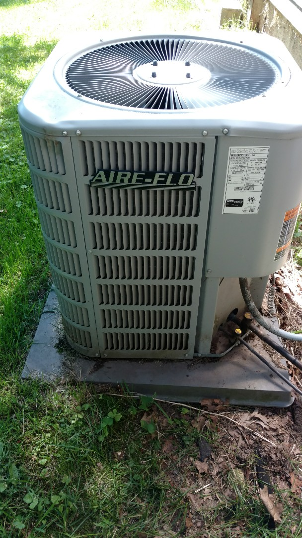 Prentice, WI - Repair electrical connection on Airflo central air conditioner