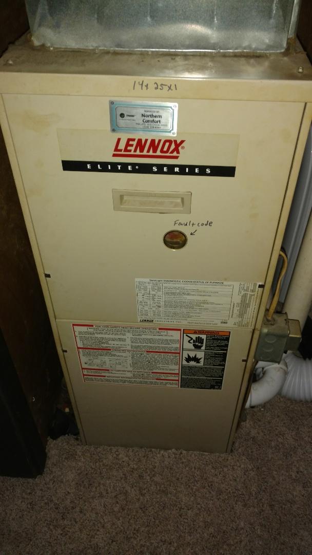 Service Lennox G26 gas furnace.